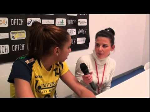 Alisha Glass in sala stampa dopo Modena-Conegliano (20-01-13)