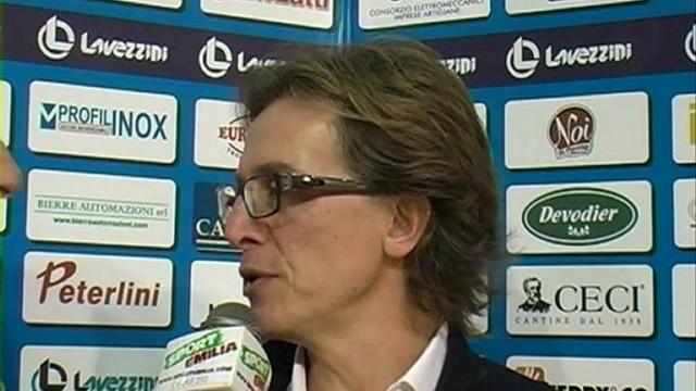 Corbani, Franchini e coach Procaccini dopo Lavezzini Parma – Cus Cagliari Basket