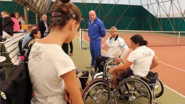 Tennis in carrozzina allo Sporting Club Parma