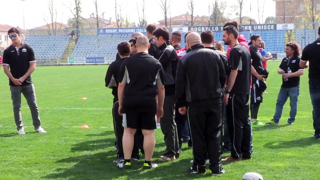 I Bufali Rossi in visita alle Zebre Rugby