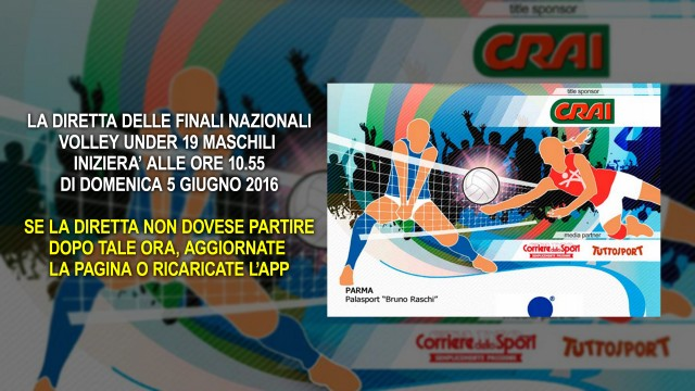 Finalissima Crai Under 19 Maschile Modena Volley – Treviso Volley